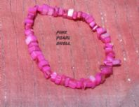 Pink Pearl Shell Chip Bracelet.